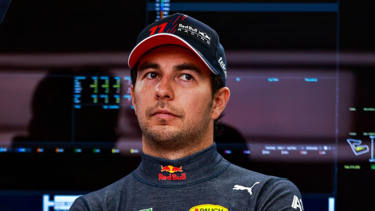 Checo Pérez podio Red Bull