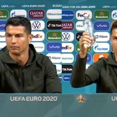 coca cola cristiano ronaldo Portugal eurocopa 2020