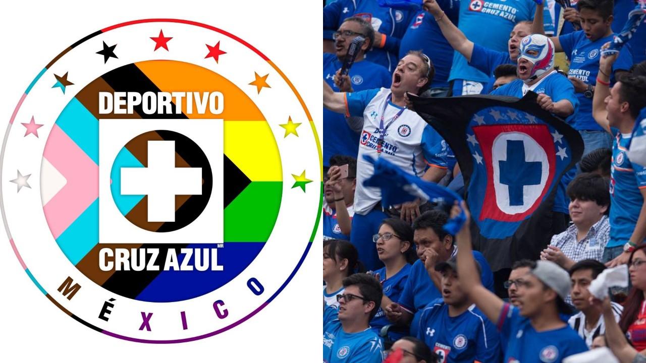 Cruz Azul escudo LGBTI+