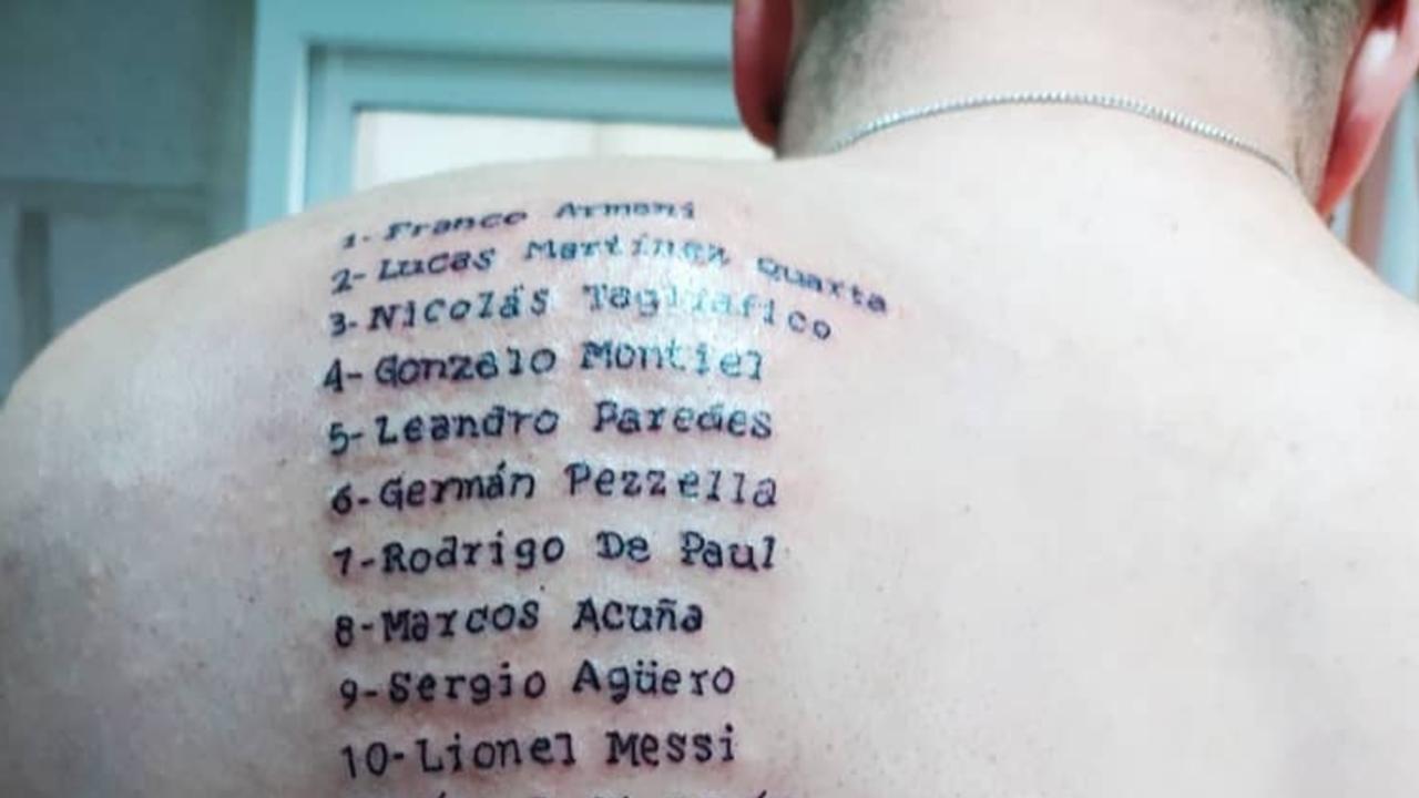 tatuajes de messi fanático copa américa 2021