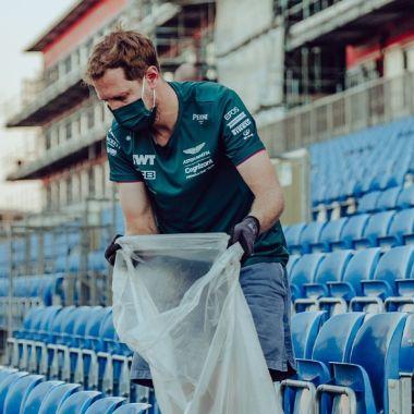 Fórmula 1 2021 Sebastian Vettel basura