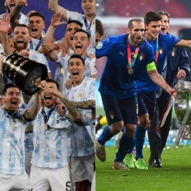 Italia y Argentina copa diego armando maradona partido