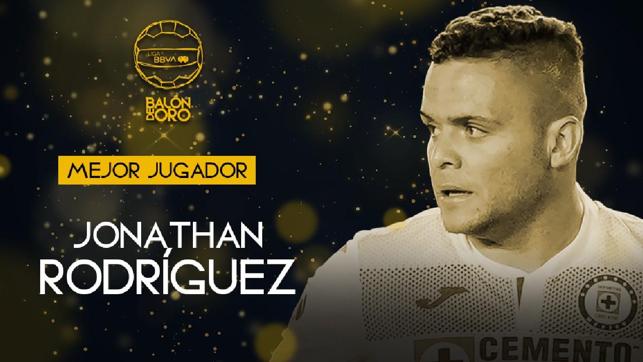 Liga BBVA MX: Jonathan Rodríguez se lleva el Balón de Oro 2021 como futbolista del año y mejor delantero