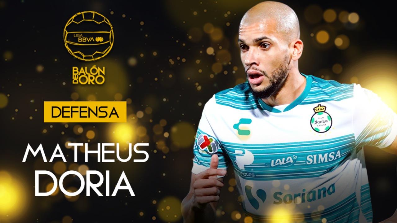 Liga BBVA MX: Matheus Doria es galardonado con el Balón de Oro 2021 como mejor defensa