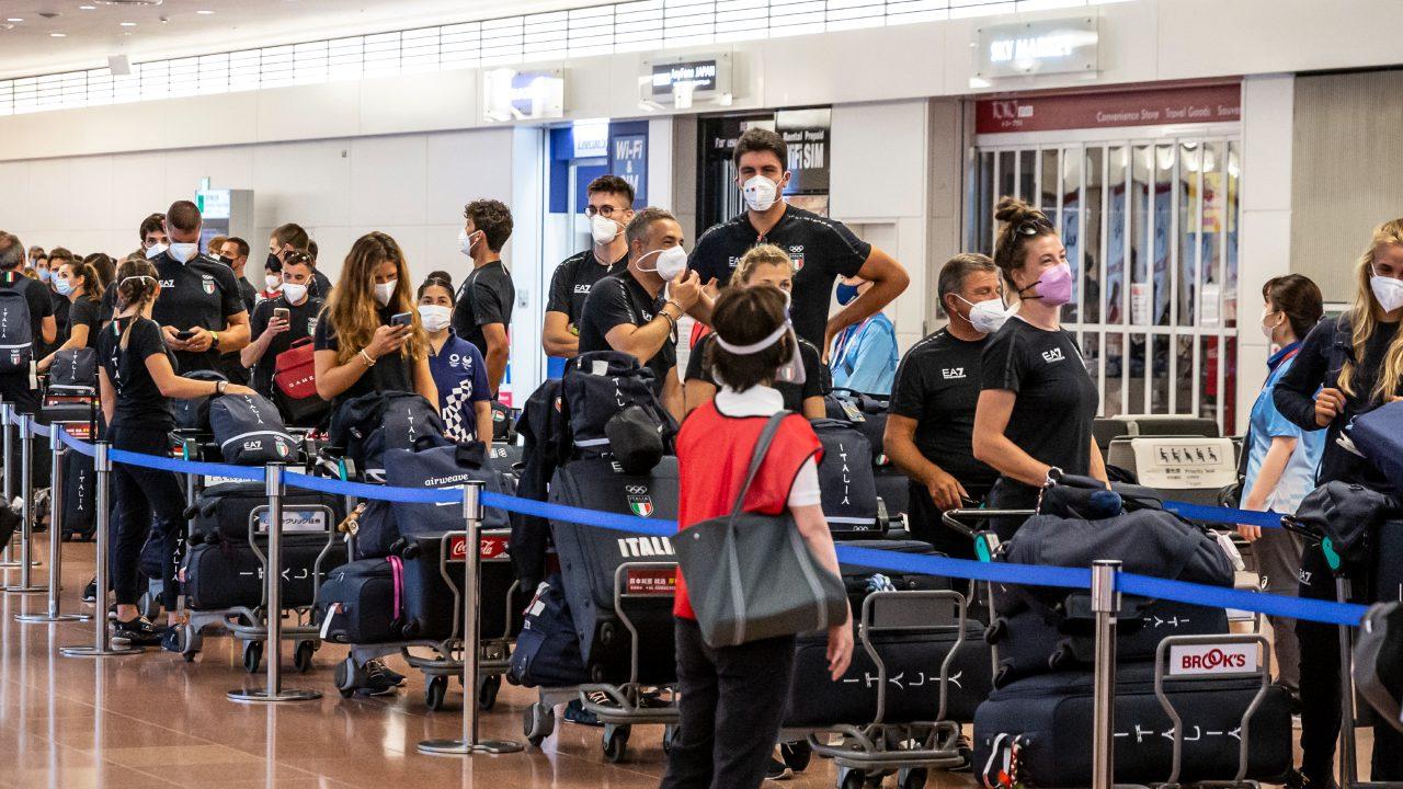 Tokyo 2020 atletas llegada aeropuerto