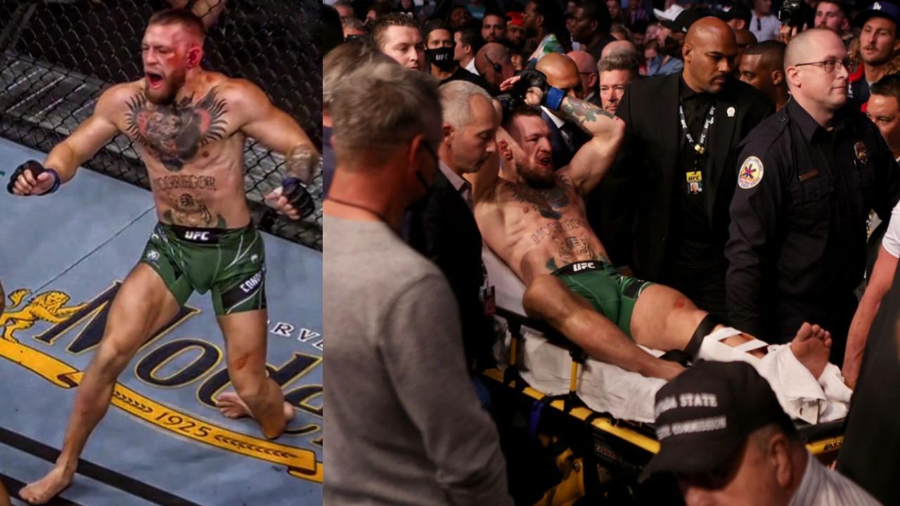 UFC 264 Conor McGregor lesión pierna