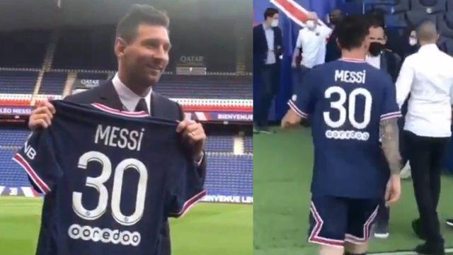 Leo Messi psg número 30 dorsal