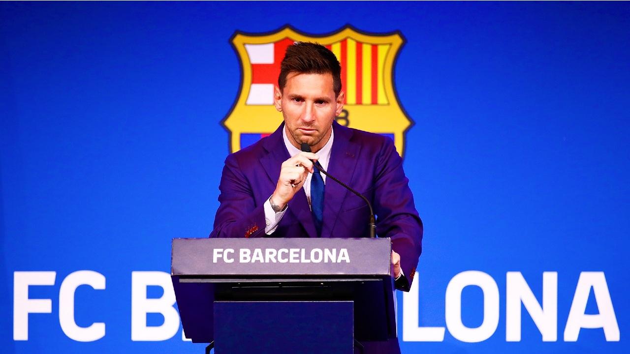 Messi Barcelona conferencia despedida