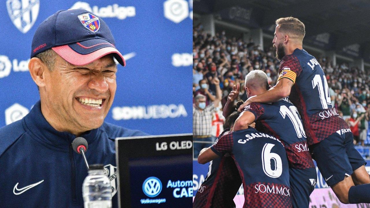 Nacho Ambriz y el Huesca consiguen su segunda victoria en el campeonato de segunda división española