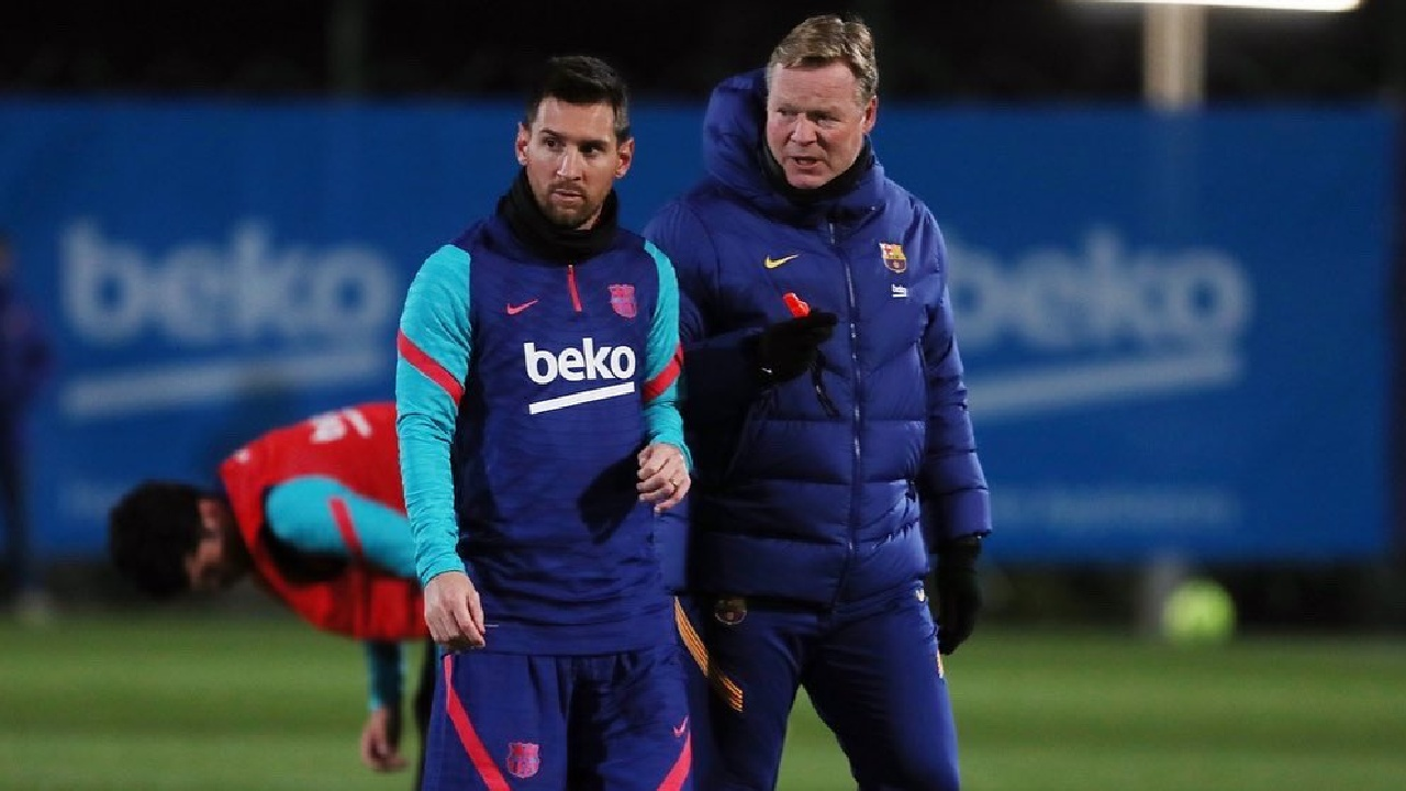 Leo Messi barcelona ronald koeman técnico