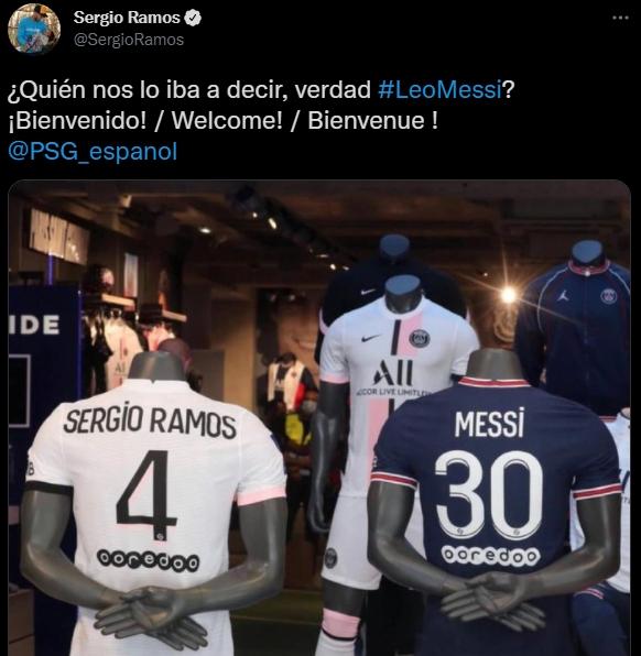 Messi se va psg sergio ramos