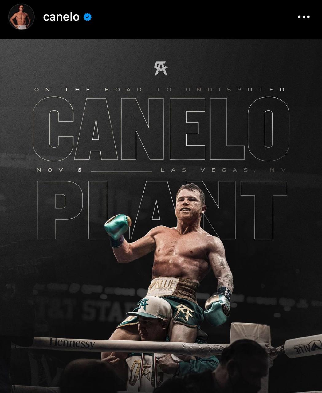 Canelo Álvarez Caleb Plant