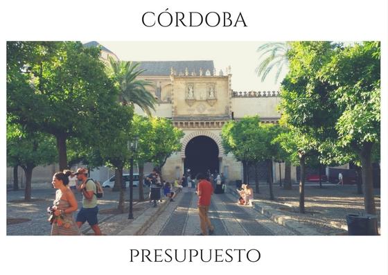 Presupuesto para 3 días en Córdoba