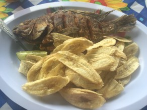 Lunch stop at Lake Yajoa
