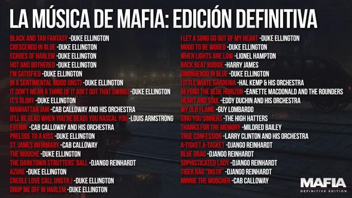 Listado Banda Sonora Mafia
