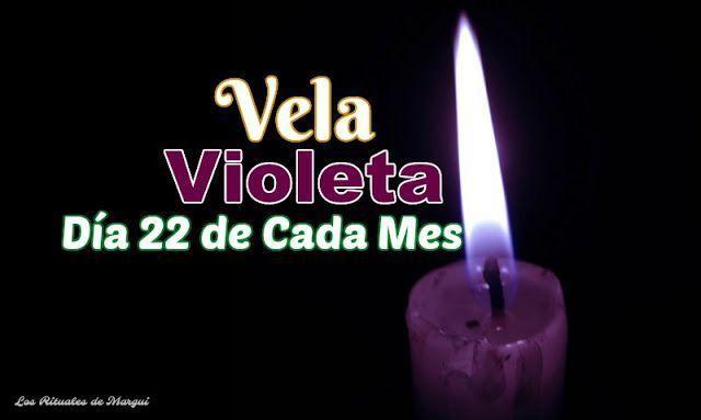 VELA VIOLETA EL DÍA 22 DE CADA MES