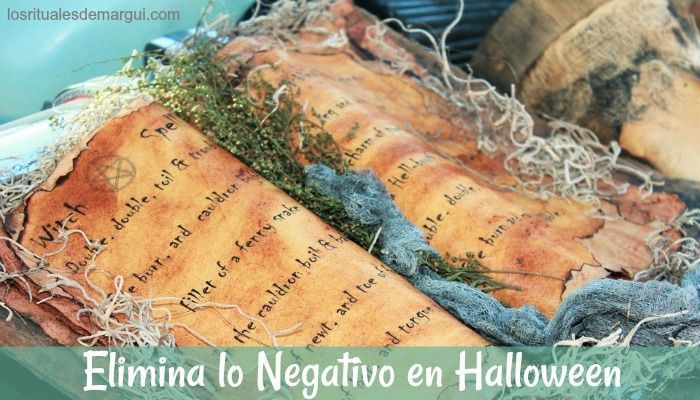 Ritual para eliminar lo negativo de tu vida ~ Halloween