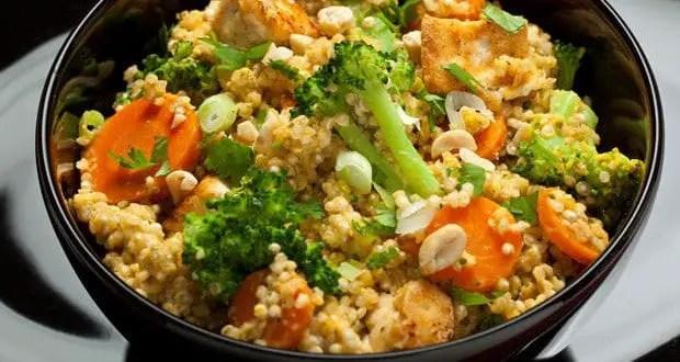 Receta de Ensalada Thai de coco y quinoa picante  Los
