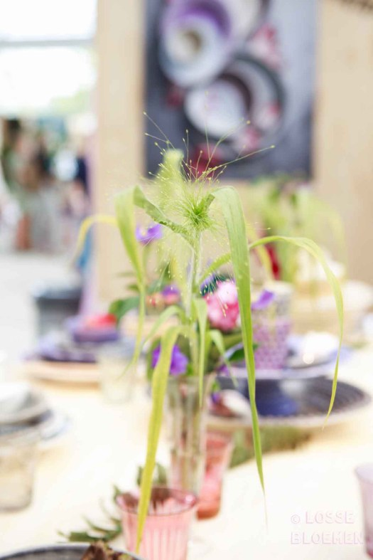 Losse bloemen in vaas showup 2017