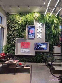 Perry sport Amsterdam losse bloemen inspiratie plantenmuur - wall of plants