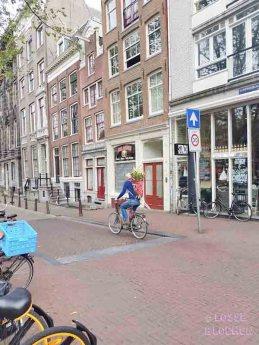 Amsterdam losse bloemen fiets met bloemen