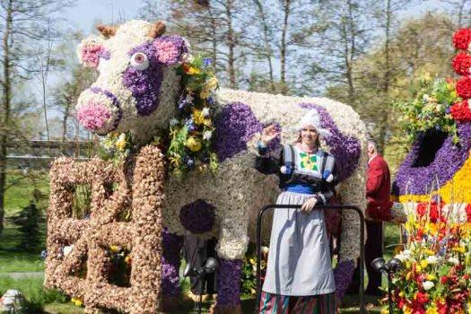 Bloemencorso bollenstreek praalwagen bloemen losse bloemen blog Noordwijk koe