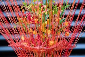 Oranje koningsdagbloemen foto- mooiwatbloemendoen.nl op losse bloemen blog Sandersonia en gloriosa