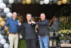 v.l.n.r. Edwin van Arkel (Algemeen Directeur), Wouter Ploeger (store manager), Richard Michel (retail manager)