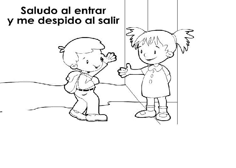 Dibujos Para Colorear De Normas De Convivencia Escolar