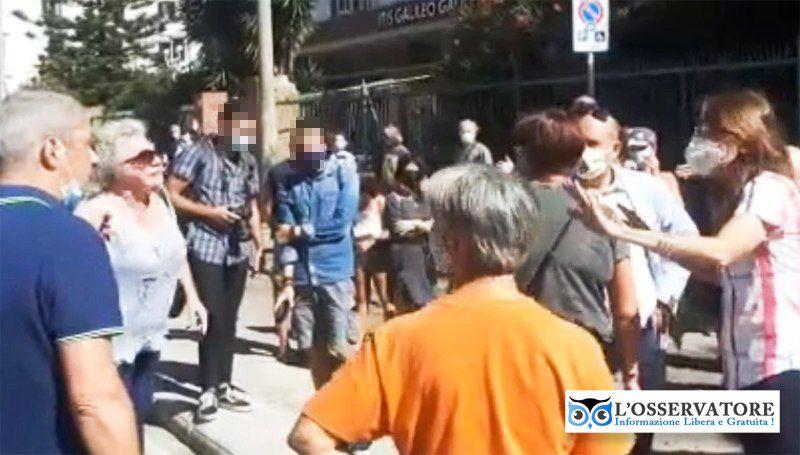 Manifestazione contro la nuova pista ciclabile in via Galilei