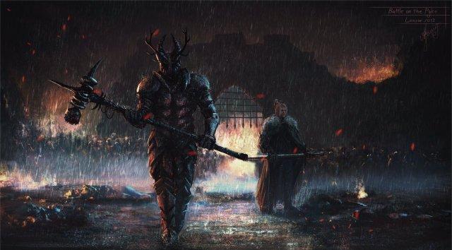 Robert y Eddard Stark en Pyke by Lensar