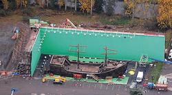 Set de rodaje de un barco en Juego de Tronos