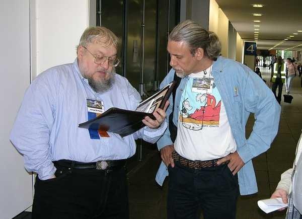 George R.R. Martin y Alejo Cuervo en 2005