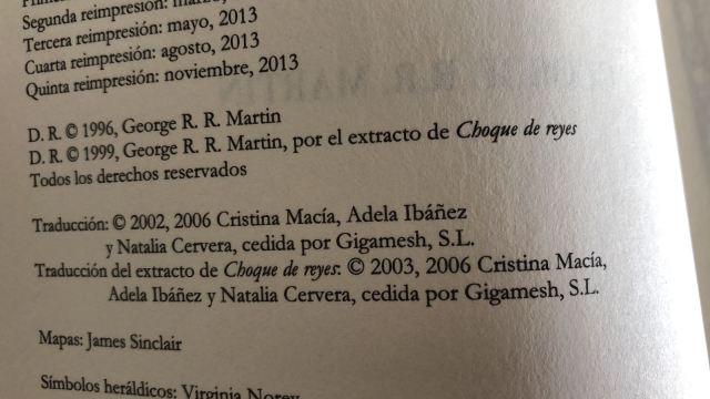 Versión mexicana con traducción obra de Gigamesh