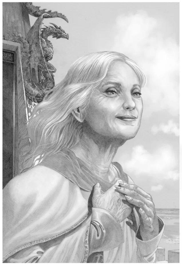 La reina Alysanne con 64 años en Rocadragón