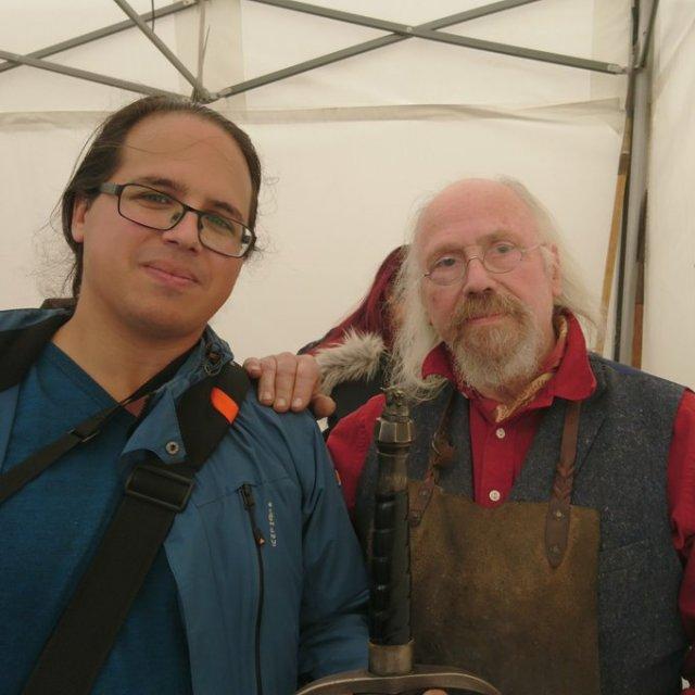 Boyd Rankin con Elio García este verano