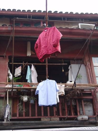 Typisches Bild auf der Dajing Road und in Old Town