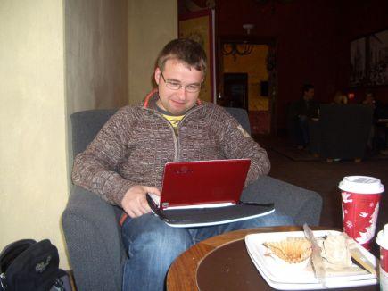 Frühstück und Internet bei Starbucks