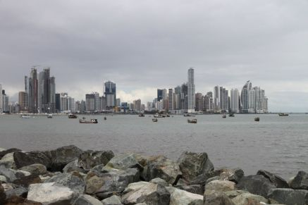 Blick auf die Skyline von Panama City