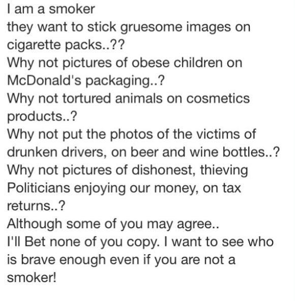 I am a smoker.