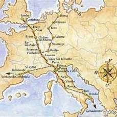 Via Francigena- Mappa