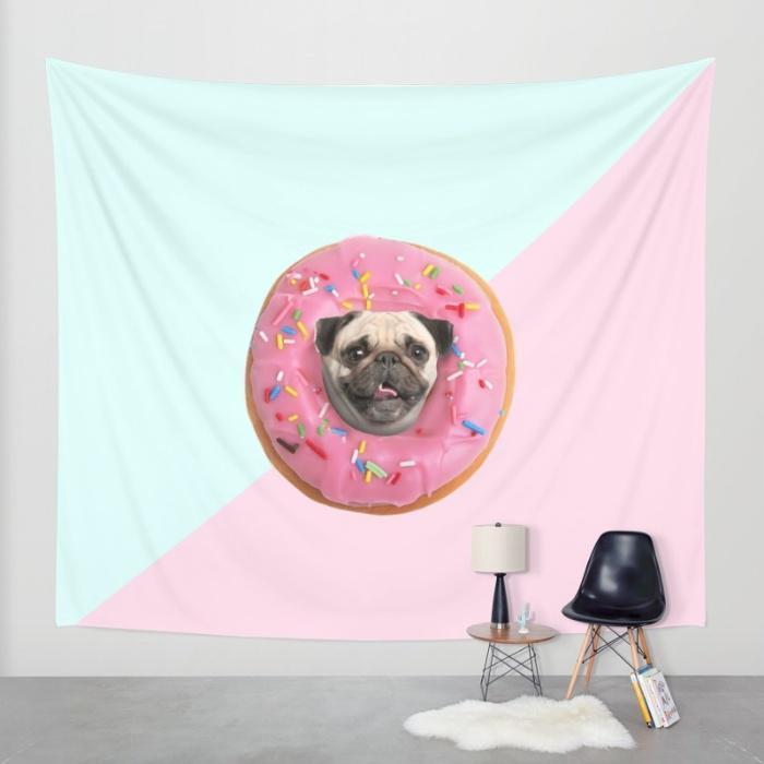 pug-strawberry-donut-xhc-tapestries