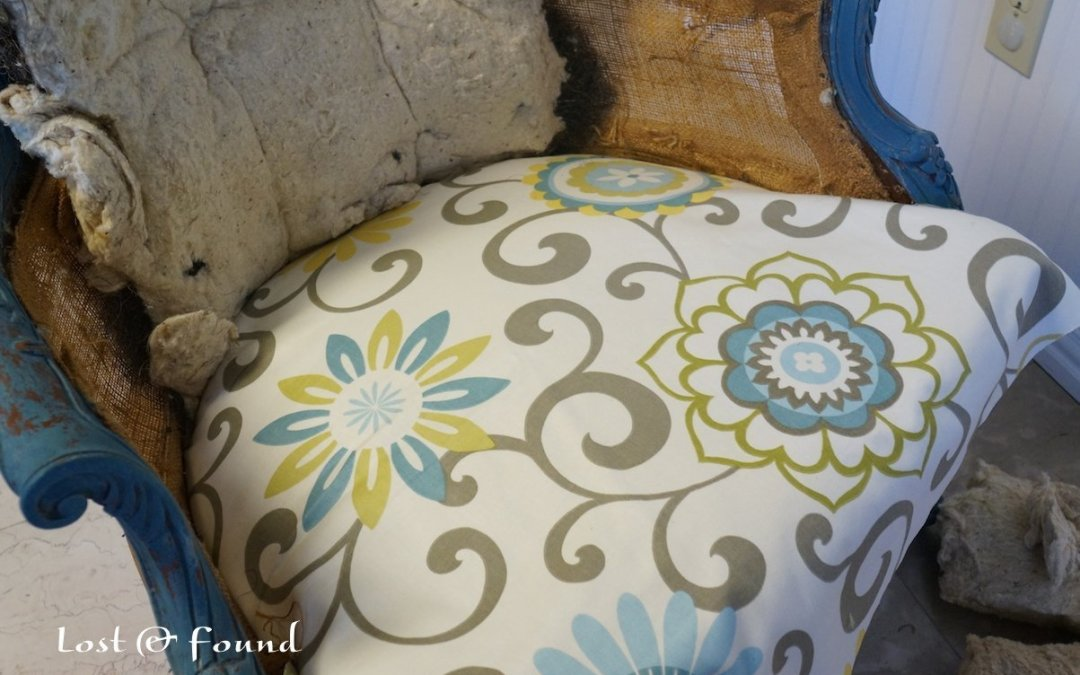 Selecting Fabric for Reupholstery | French Chair Makeover