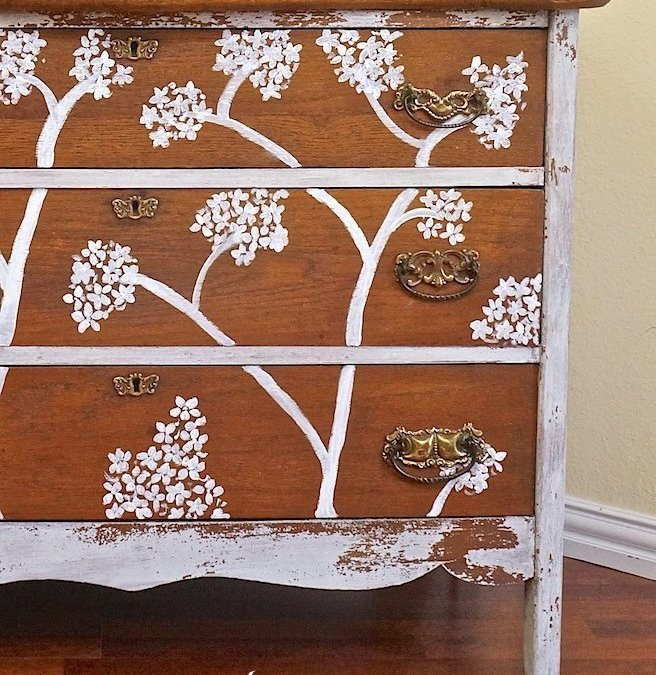 Cherry Blossom Dresser Milk Paint Makeover