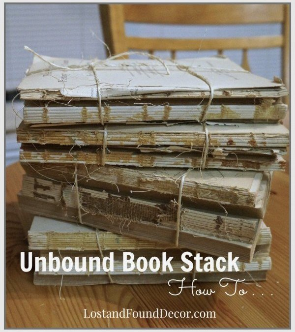 DIY | How To a Make Pottery Barn Style Unbound Book Stack