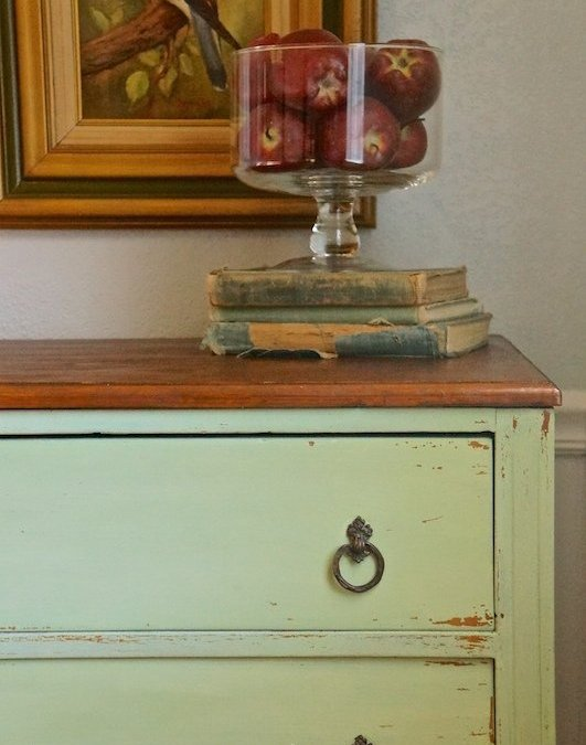 Luckett's Green Milk Paint Chest of Drawers