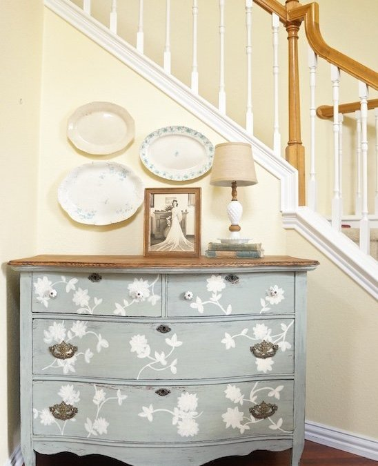 Layla's Mint Milk Paint Dresser { Furniture Makeover }