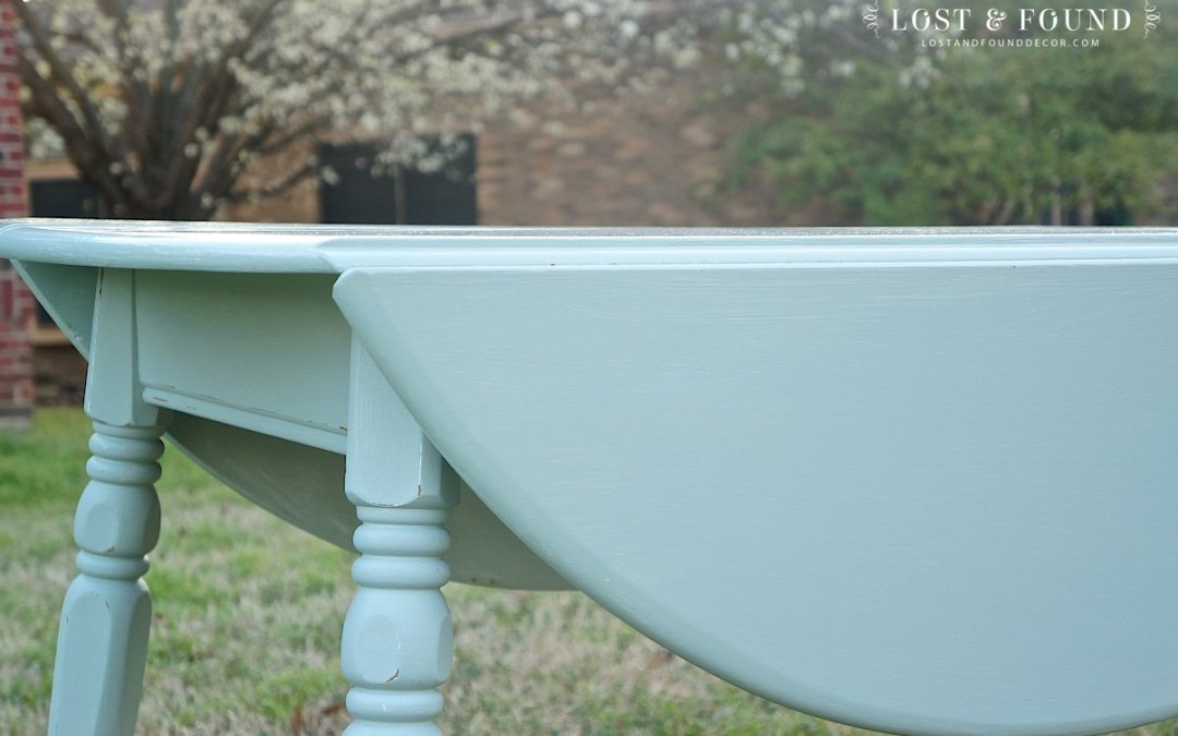 Revived Vintage Drop Leaf Table { Furniture Makeover }
