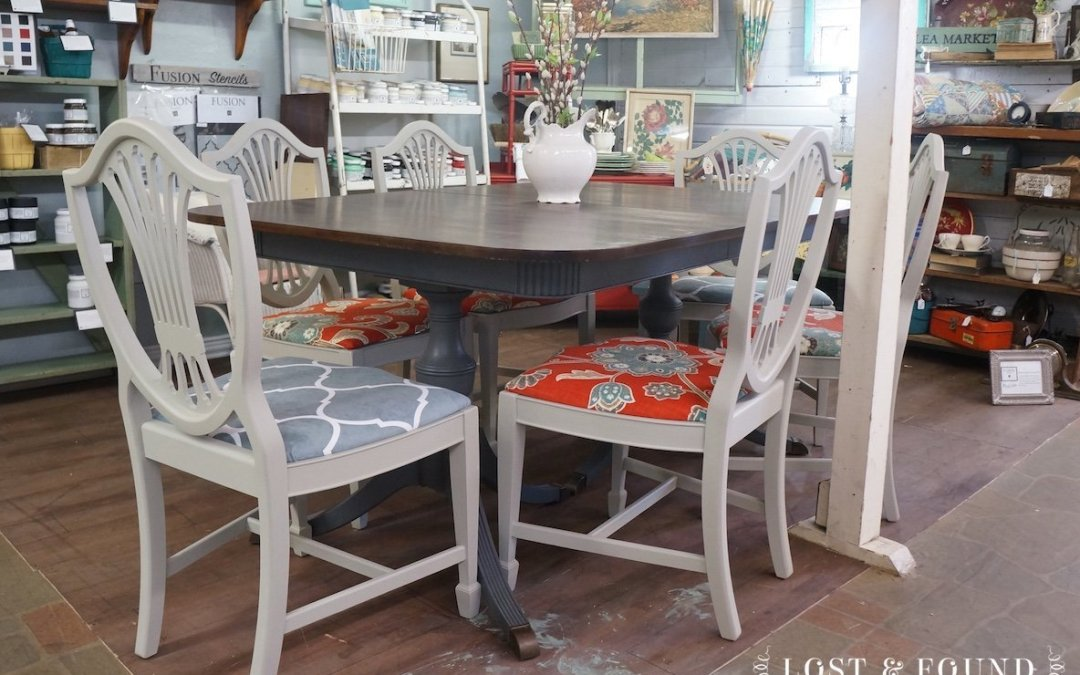 Duncan Phyfe Style Dining Set [Furniture Makeover]