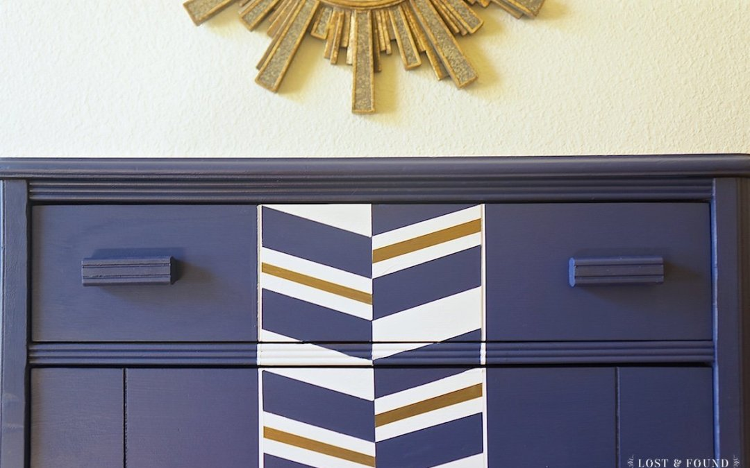 Fusion Liberty Blue Modern Chest of Drawers { Furniture Makeover }